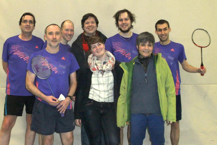 Badminton-Mannschaft des TV Jahn Wahn, in der Saison 2015/2016 in die Bezirksklasse aufgestiegen